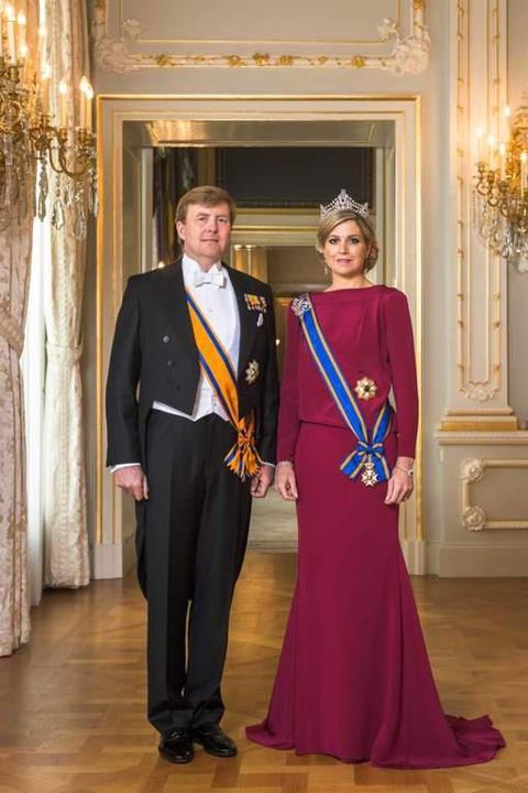 Guilherme e Maxima - foto oficial do novo rei e da nova rainha da Holanda