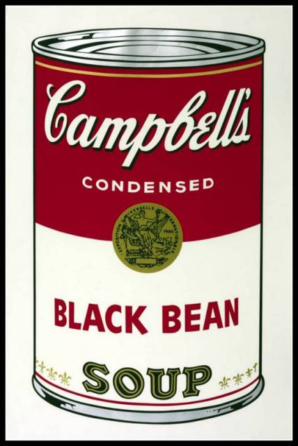 Black Bean 1968 by Andy Warhol 1928-1987