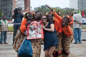 """Eu com as """"Mamanas moçambicanas"""" em Maputo - 2011"""